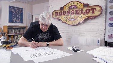 Caligrafía para un Ex libris. A Calligraph, , T, and pograph course by Ricardo Rousselot Schmidt