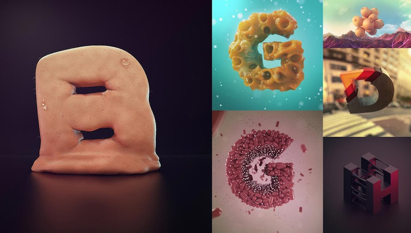 3D Lettering: Modelling and Texturising with Cinema 4D