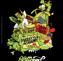 Vallnord Freestyle. A Illustration project by Sergio Jiménez - Jun 18 2009 02:20 PM