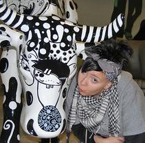 mi vaca garabatilla. Un proyecto de Diseño de marta méndez alvarez - 16-07-2009