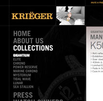 Krieger Watches. A Design, and Advertising project by Matias Bejas - 04-09-2009