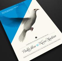 Tarjetón de Bautismo. Un proyecto de Diseño de Nuno Coelho - Lunes, 12 de octubre de 2009 12:55:41 +0200