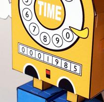 Màquina del Temps Paper Toy. Um projeto de Design, Ilustração, Publicidade e Fotografia de Quim Mirabet López         - 05.11.2009