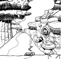 Jack London ilustraciones. Un proyecto de Ilustración de Tomás Morón Aranda - Jueves, 12 de noviembre de 2009 17:05:16 +0100
