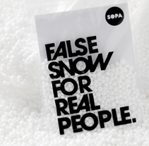 False snow for real people. A Design project by SOPA Graphics   - Jan 22 2010 06:41 PM