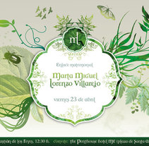 Invitación boda. Un proyecto de Diseño e Ilustración de Luis Pascual - Viernes, 26 de marzo de 2010 08:58:11 +0100