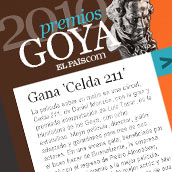 Premios Goya - ELPAÍS.com. A Design, Software Development, and UI / UX project by Ismael González - Apr 05 2010 03:49 PM