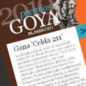 Premios Goya - ELPAÍS.com. Un proyecto de Diseño, Desarrollo de software y UI / UX de Ismael González - 05-04-2010