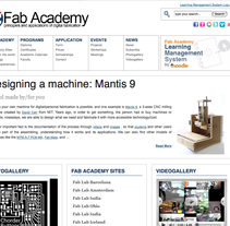 Website de Fab Academy. A Design, and UI / UX project by Javi Canalda - May 16 2010 06:21 PM