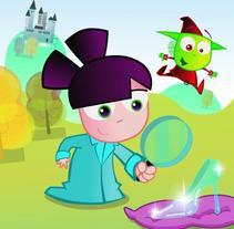 sandra,the fairytale detective / sandra detective de cuentos. Un proyecto de Ilustración de elvis pedro nsue         - 11.10.2010
