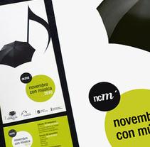 Novembro con Música 2010. Um projeto de Design, Ilustração, Publicidade e Fotografia de Gende Estudio         - 05.11.2010