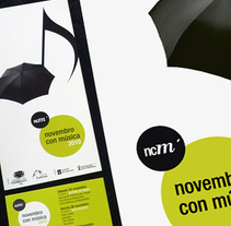 Novembro con Música 2010. A Design, Illustration, Advertising, and Photograph project by Gende Estudio         - 05.11.2010