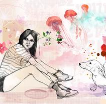 Audrey. A Illustration project by Lucía Inthesky         - 11.11.2010