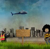 New York -Diseño e ilustracion de pantalla para web-. Un proyecto de Diseño e Ilustración de Blanca  - 24-11-2010