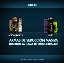 Portfolio de Producto para Axe. A Design, Illustration, and Advertising project by Jesús Corrales - 26-12-2010