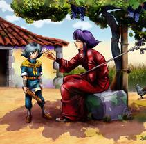 Ilustración Manga Libro Conmemorativo. Un proyecto de Ilustración de Isabel Martín - Domingo, 26 de diciembre de 2010 19:42:36 +0100