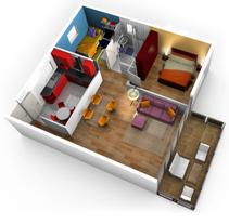 3D arquitectónico. Un proyecto de Instalaciones y 3D de Estela Choclán - Jueves, 10 de febrero de 2011 12:16:57 +0100