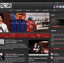 Fran Perea website. A Music, Audio, and Software Development project by Si sensationimage          - 02.03.2011