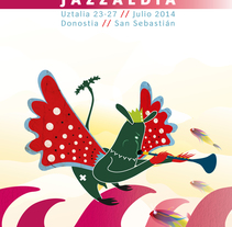 JAZZALDIA CARTELES. A Design, Illustration, Advertising, Music, and Audio project by K I - 07-03-2011