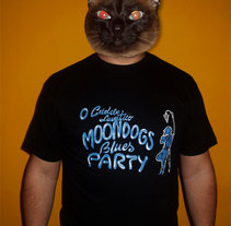 Camiseta promocional del grupo Moondogs Blues Party. A Design&Illustration project by Aurora Cascudo Román - 27-03-2011