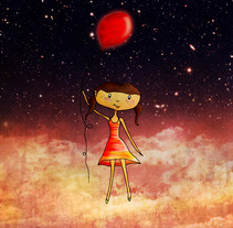 Viaje en un globo. A Illustration project by Joa         - 04.04.2011