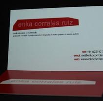 Tarjetas personales. Un proyecto de Diseño de Enka Corrales Ruiz - 21-05-2011