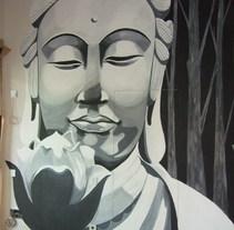 mural chil out budista. Um projeto de Design, Ilustração e Motion Graphics de enrique granados de foronda         - 21.07.2011