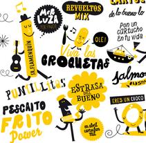 El Cartucho (Bar-Freidor). A Design&Illustration project by Rebombo estudio  - 04-09-2011
