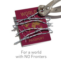 No Fronters. A Graphic Design project by Juani Lopez Ramos         - 03.09.2011