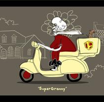 Supergranny. Um projeto de Design, Ilustração e Motion Graphics de Marcos Andrade Prieto         - 17.09.2011