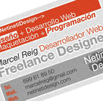 Tarjetas de presentación. Um projeto de Design de Marcel Reig Ibarra - 29-09-2011