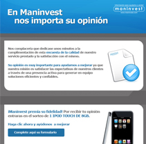 Maninvest Emailings. A Design, and Advertising project by Silvia Iglesias - Oct 26 2011 11:40 AM