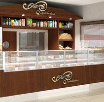 Infografía 3D Pastelería en estación de servicio. A Design, Installations, and 3D project by Luis Dedalo - 06-11-2011