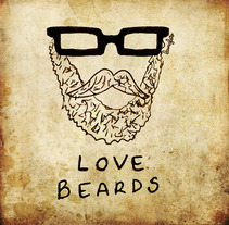 Love beards. A Illustration project by Laura Feito         - 28.11.2011