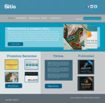 Sitio Web Azul. Um projeto de Design de Elizabeth Amaya         - 03.12.2011