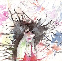 gotas de color. A Illustration project by Angi lópez. love'n'hate         - 18.12.2011