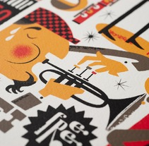 Jazzgrafía. A Design&Illustration project by Rebombo estudio         - 21.12.2011