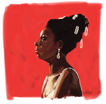 Nina Simone Illustration. A Illustration project by Tono G. Dueñas         - 02.01.2012