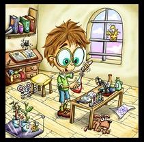 Lalo el niño científico. A Design, and Advertising project by eugenia suárez         - 13.01.2012
