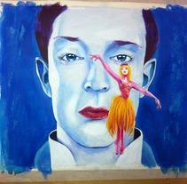 el ruiseñor y la rosa dibujo 2. A Illustration project by Iván  Ferrándiz Soler         - 19.02.2012