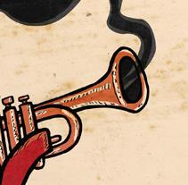 Cartel Jazzaldia 2012. Un proyecto de Diseño e Ilustración de M.A. Serralvo - Viernes, 27 de abril de 2012 17:40:03 +0200