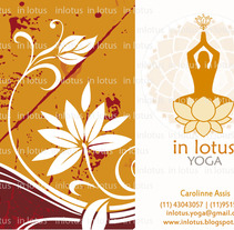 InLotus Yoga panfleto frente. A  project by Carolinne Assis         - 09.05.2012