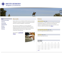 Web Bretin Herrero abogados. A Design, Software Development&IT project by Oscar M. Rodríguez Collazo         - 12.05.2012