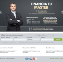 Financia tu Máster. A Design, and Software Development project by seven  - May 17 2012 12:00 AM