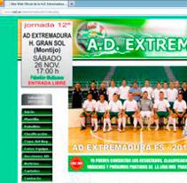 A.D. Extremadura F.S.. Um projeto de Design, Desenvolvimento de software, Fotografia, UI / UX e Informática de Ladislao J. García Patricio         - 31.05.2012