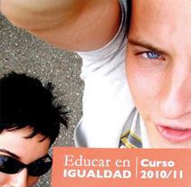 Educar en igualdad. Curso 2010/2011: diseño editorial. Um projeto de Design de Paco Mármol         - 05.06.2012
