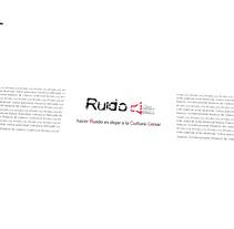 Imagen Corporativa Ruido Asociación Cultural. Un proyecto de Diseño de Anita Aísa Pardo         - 10.07.2012