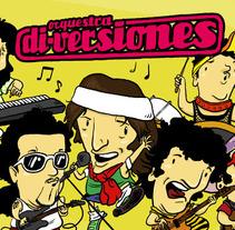 Caricatoona Orquestra Di-Versiones. Un proyecto de Ilustración de Dànius Dibuixant - Il·lustrador - comicaire         - 19.07.2012