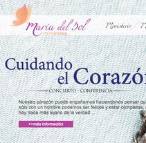 Pagina Web María del Sol. Um projeto de Design, Ilustração e Desenvolvimento de software de Alvaro Espejel Valdes - 20-07-2012