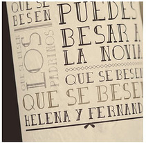 Etiqueta de vino para enlace Helena y Fernando. Un proyecto de Diseño de Rosa López - 23-08-2012